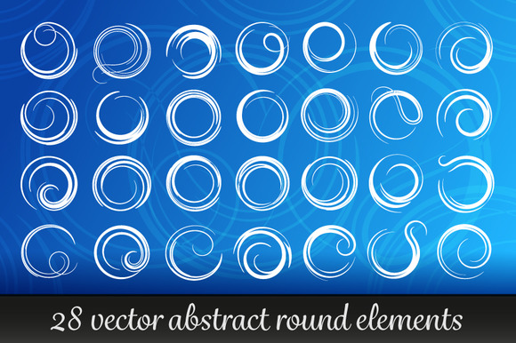 Absrtact Round Elements Vector Set