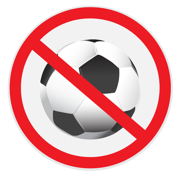 No Soccer Football Sign