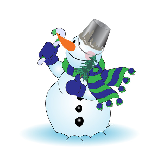 Snowman Greetings New Year