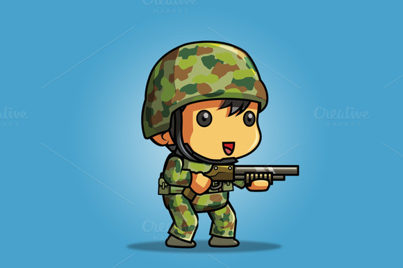 2D Game Sprite Tiny Soldier 03