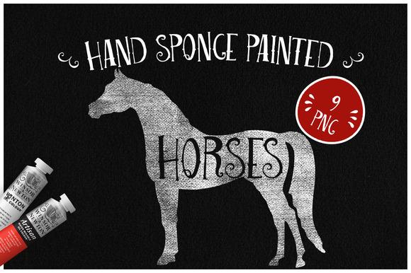 Sponge Painted Horses