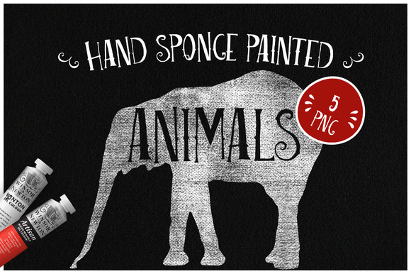 Sponge Painted Animals