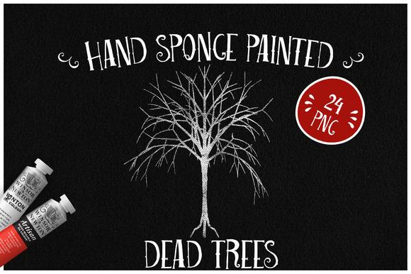 Sponge Painted Dead Trees