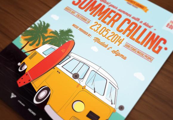 Retro Car Poster Flyer VIII