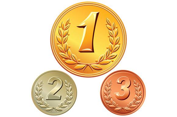 Vector Set Of Medals
