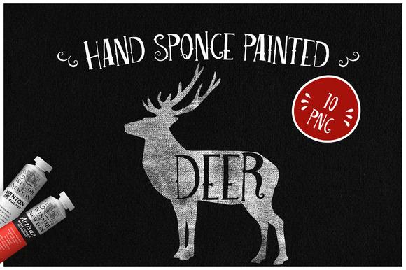 Sponge Painted Deer