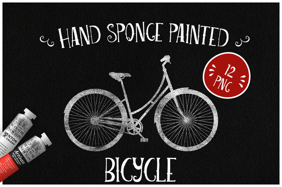 Sponge Painted Bicycle