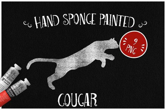 Sponge Painted Cougar