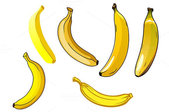 Fresh Ripe Yellow Banana Fruits