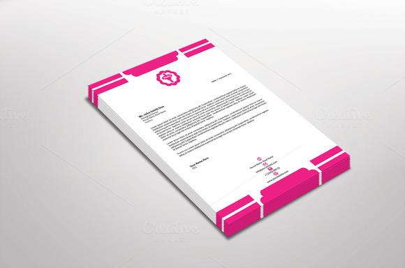 Pinky Letterhead Template
