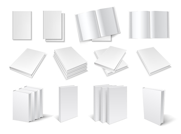 Blank Book Templates Set