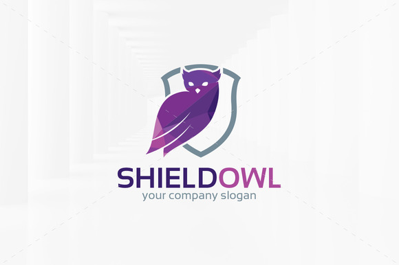 Shield Owl Logo Template