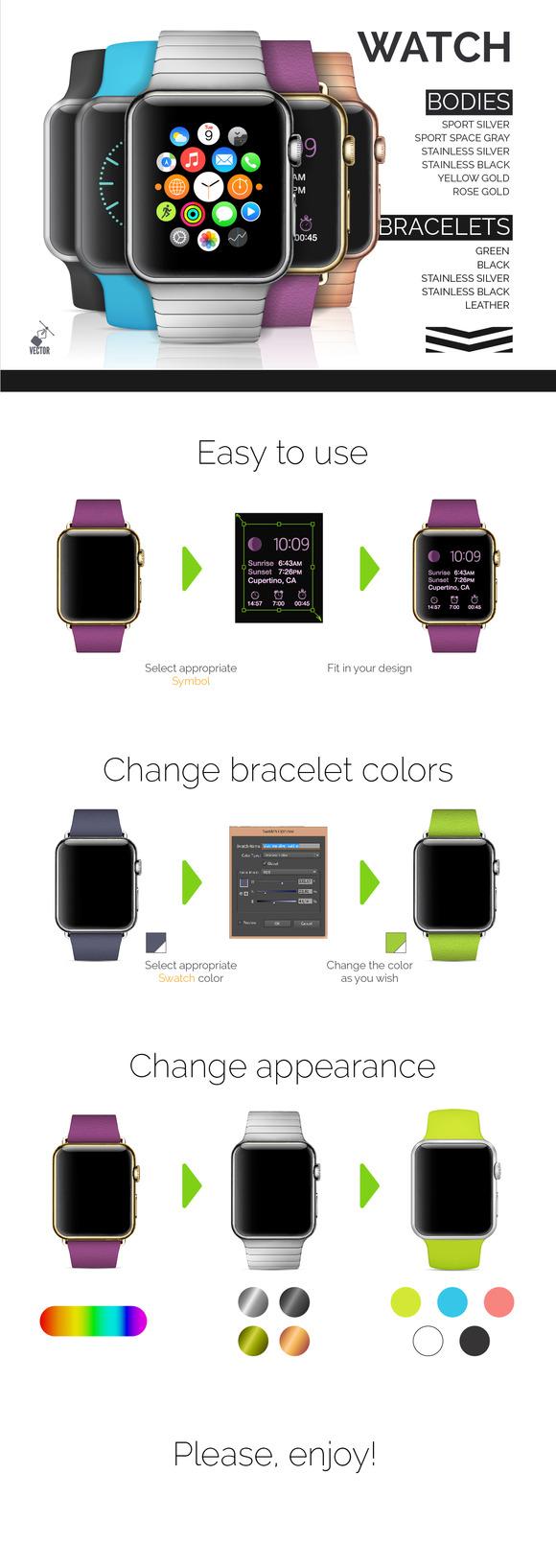 Best Vector Apple Watch BONUS