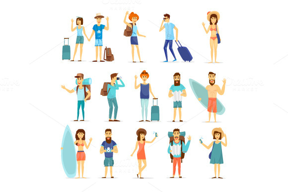 Summer Vacation Character Design