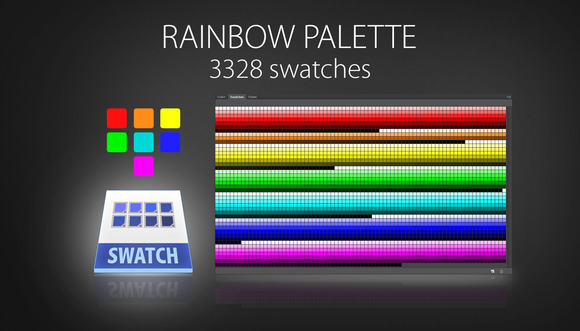 Rainbow Color Swatches