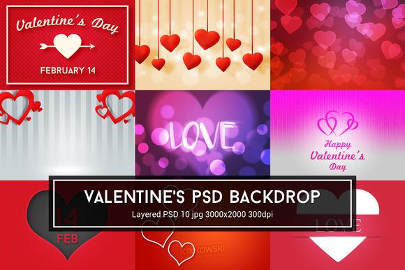 Valentine's Day PSD Backdrop