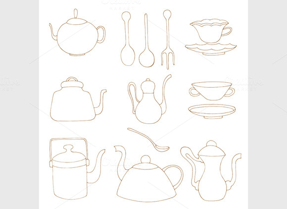 Set Of Tea Accessories