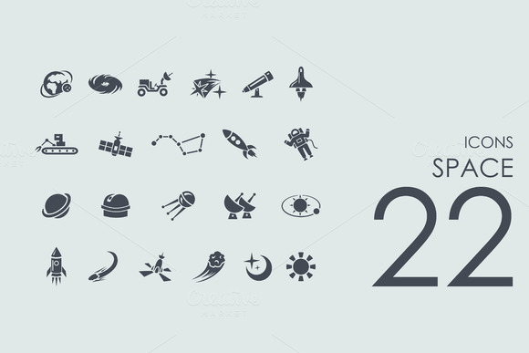 22 Space Icons