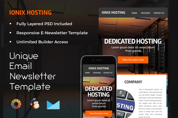 Ionix Hosting Newsletter Template