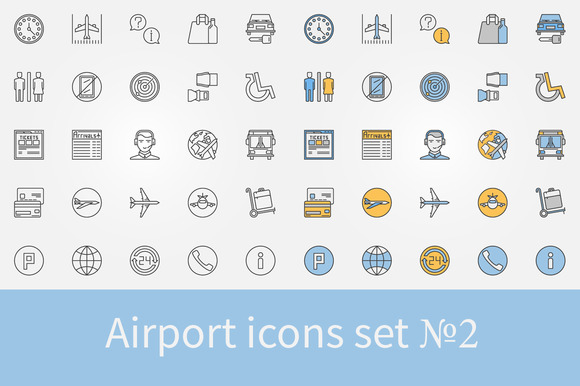 Airport Icons Set 2