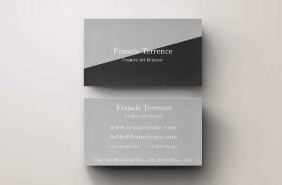 Timeless Grey Business Card Template