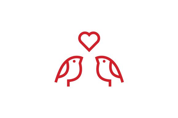Bird Love Logo Template