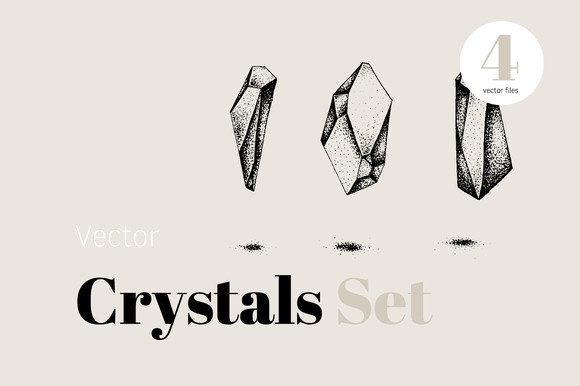 Vector Crystal Icon Set
