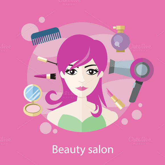 spanduk beauty salon designtube creative design content. Black Bedroom Furniture Sets. Home Design Ideas