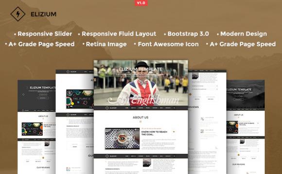 Elizium Responsive HTML5 Template
