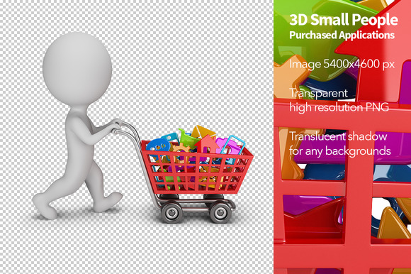 3D Small People Purchased Apps