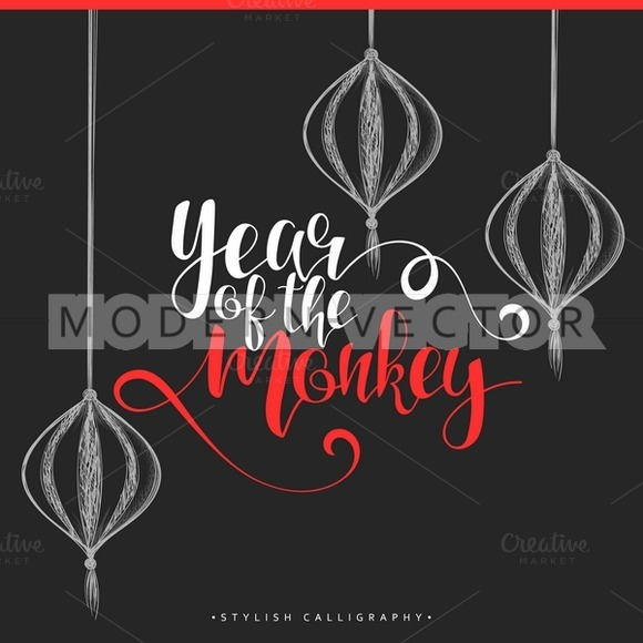 Calligraphic Design Chinese New Year