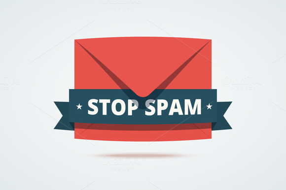 Stop Spam Illustration