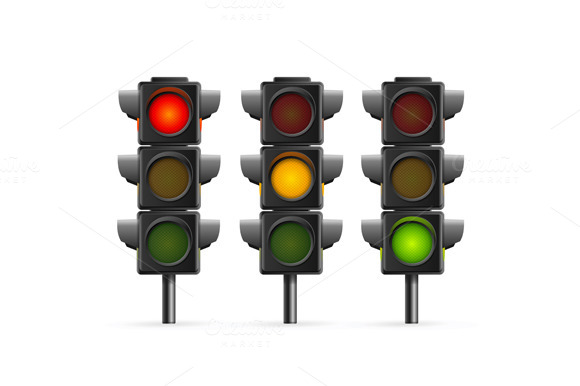 Traffic Light Set Sequence Vector