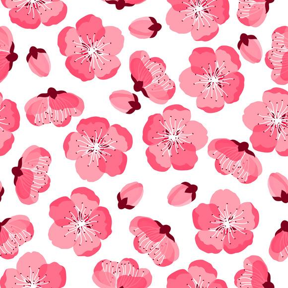Japanese Sakura Seamless Patterns