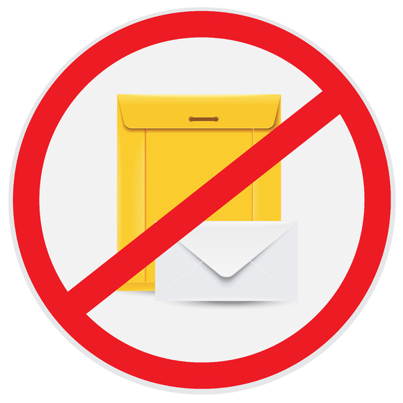 No Envelopes Mails ATM Vector
