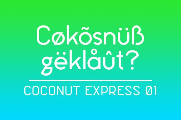 Coconut Express Font