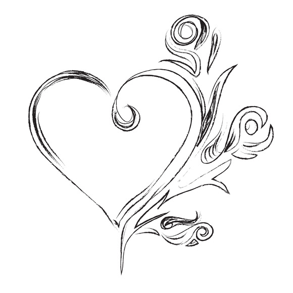 Sketch Heart Ornament