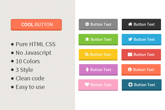 Cool Button HTML CSS Button