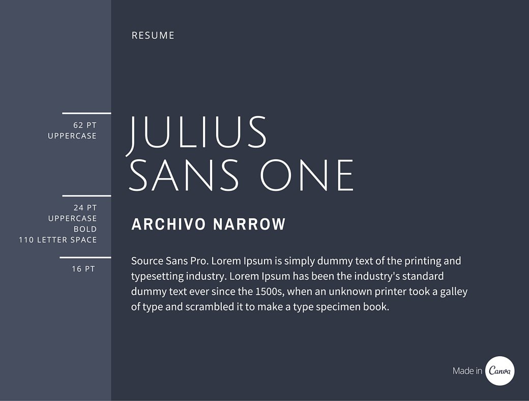Best font for resume typography : P o box on resume