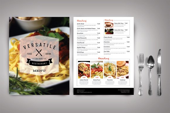 Cafe menu design ideas