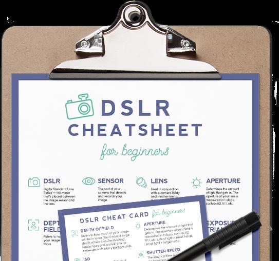 DSLR Cheatsheet for Beginners ~ Creative Market Blog