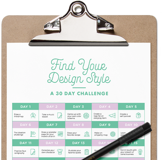 Find Your Design Style: A 30-Day Creativity Challenge