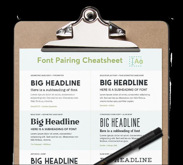 Font Pairing Cheatsheet