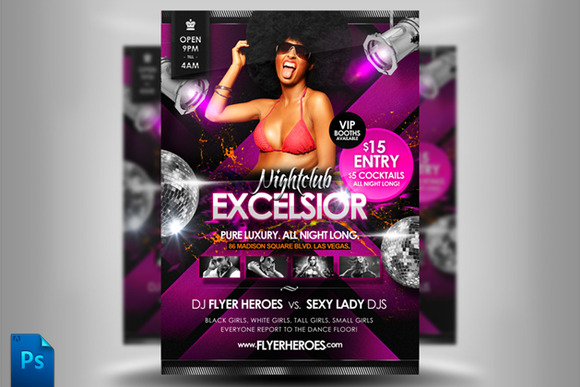 Excelsior Flyer Template