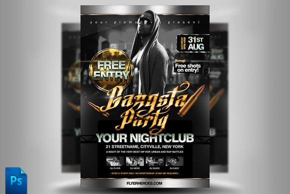 Gangsta Party Flyer Template