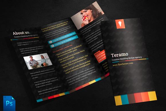 Teramo Tri Fold Brochure Template