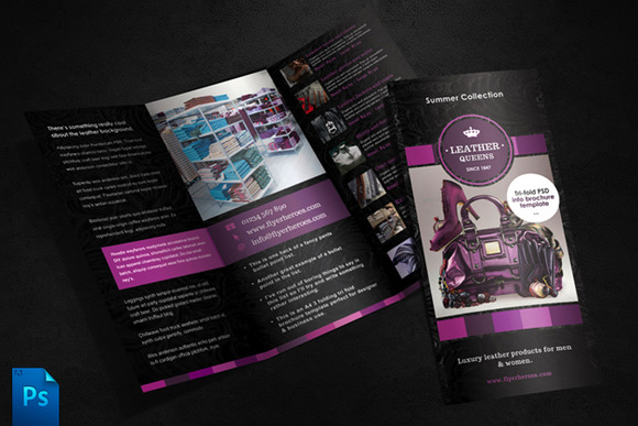 Leather Queens Brochure Template