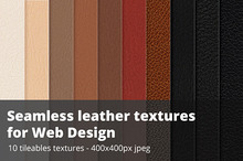 Seamless leather swatches - Jpg + illustrator