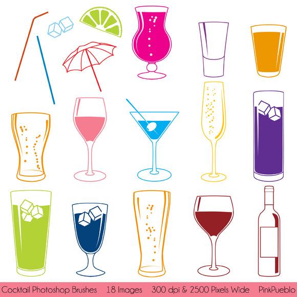 Cocktail Photoshop Brushes