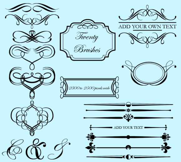 Flourishes And Frames PS Brushes